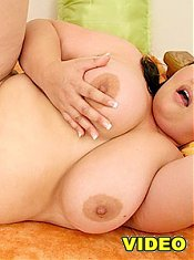 Hot Asian fatty Olivia gets her large knockers fondled before receiving a deep pussy humping