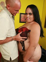 Pretty BBW Christy Minx naked and riding a dick and gets her well deserved cumshot
